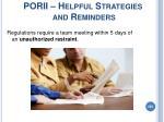 porii helpful strategies and reminders205