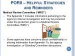 porii helpful strategies and reminders207