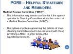 porii helpful strategies and reminders208