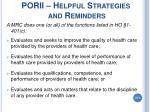 porii helpful strategies and reminders211