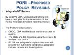 porii proposed policy revisions
