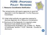 porii proposed policy revisions219