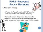 porii proposed policy revisions221
