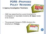 porii proposed policy revisions222