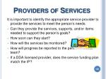 providers of services