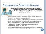 request for services change188