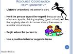 resource coordination daily commitment