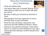 resource coordination daily commitment13