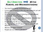 self direction myths rumors and misunderstanding
