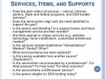 services items and supports
