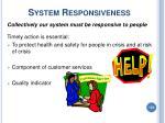 system responsiveness