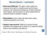 waiver basics continued33