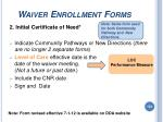 waiver enrollment forms154
