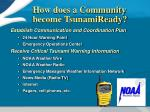 how does a community become tsunamiready