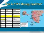 how is nws message sent out