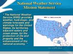 national weather service mission statement