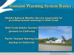 tsunami warning system basics