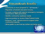 tsunamiready benefits