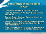 tsunamiready recognition process