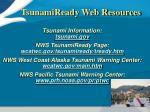 tsunamiready web resources