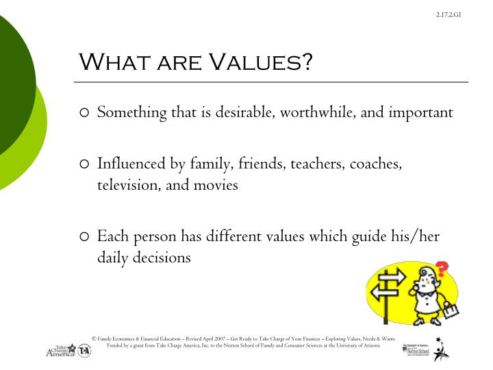 important values in a person