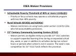 esea waiver provisions48