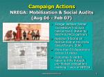 campaign actions nrega mobilization social audits aug 06 feb 07