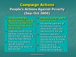 campaign actions people s actions against poverty sep oct 20068