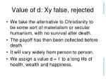 value of d xy false rejected