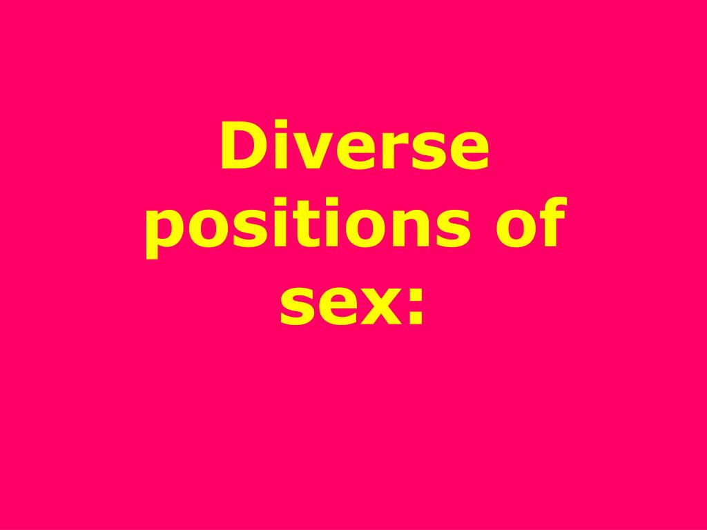 diverse positions of sex l.