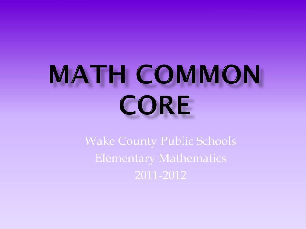math common core l.