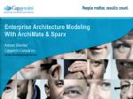 enterprise architecture modeling with archimate sparx