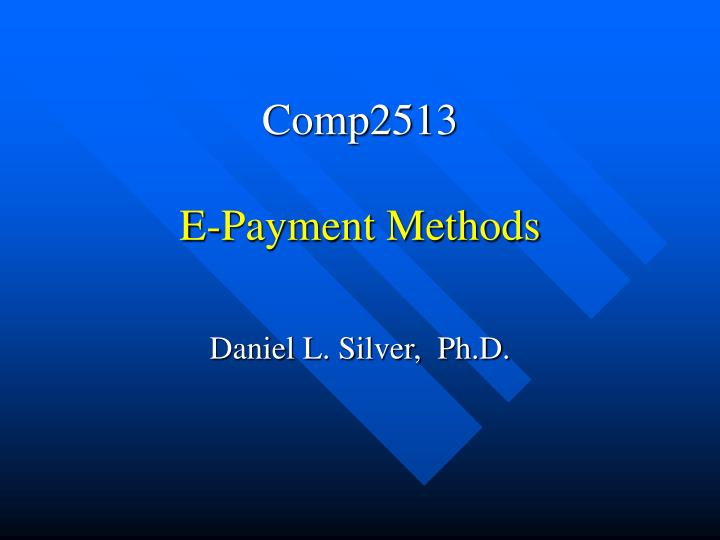 comp2513 e payment methods n.