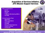 acquisition of services initiative jitc mission support services