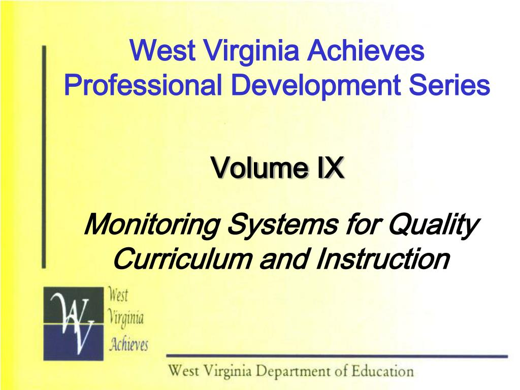 west virginia achieves professional development series l.
