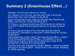 summary 2 greenhouse effect