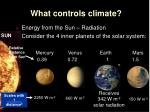 what controls climate