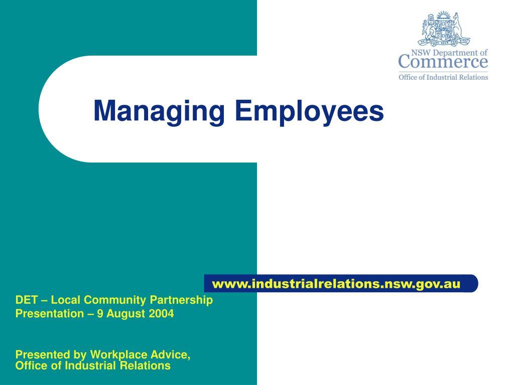 managing employees l.