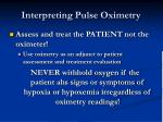 interpreting pulse oximetry