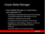 oracle wallet manager