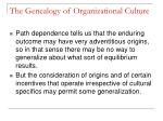the genealogy of organizational culture