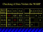 checking if data violate the warp6