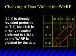 checking if data violate the warp8