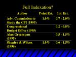 full indexation11