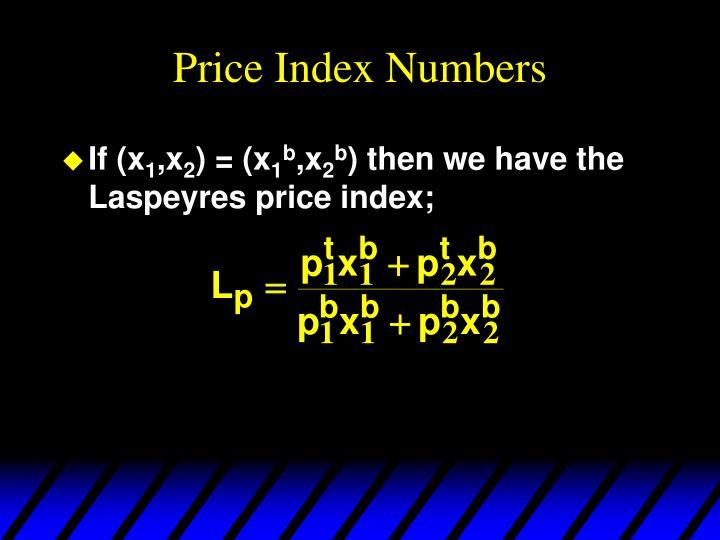 Price Index Numbers