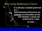 recovering indifference curves39