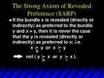 the strong axiom of revealed preference sarp