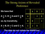the strong axiom of revealed preference10