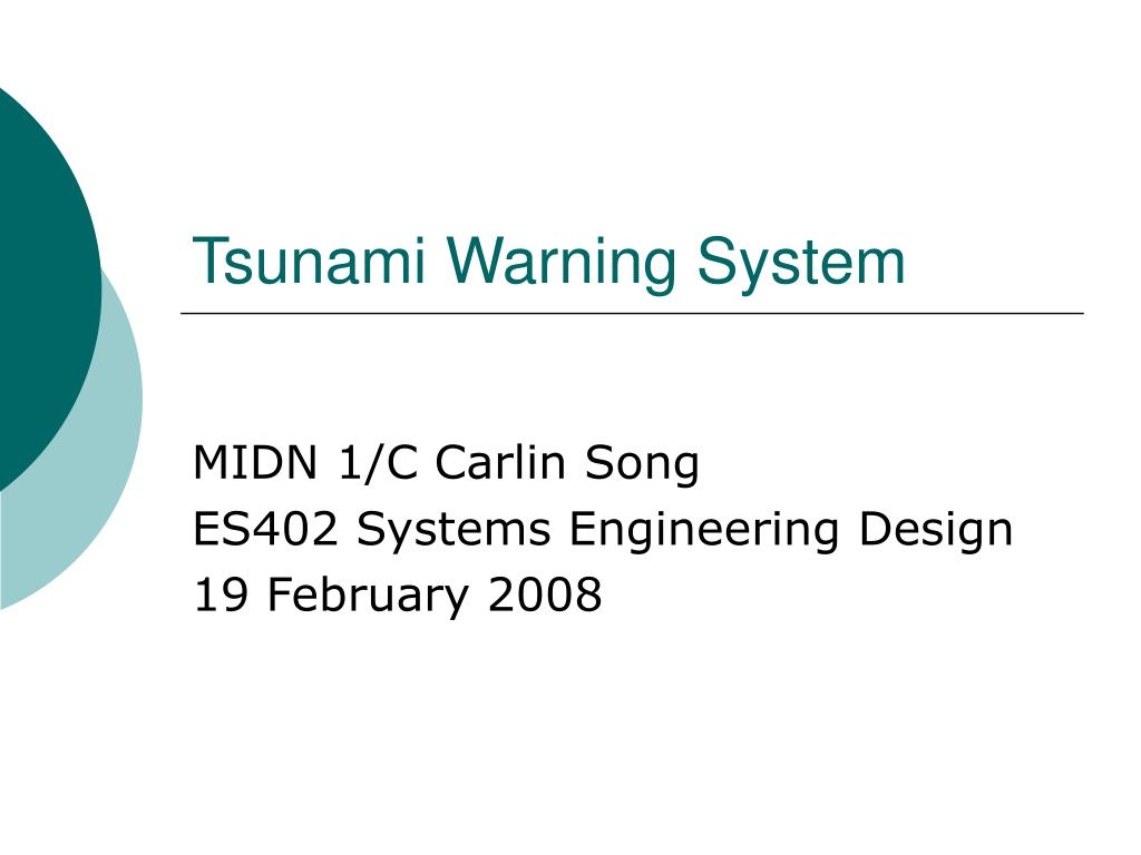 tsunami warning system l.