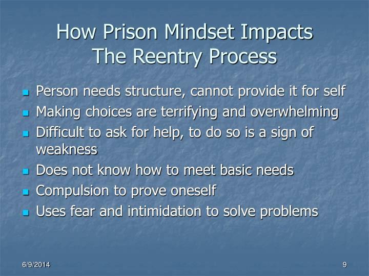 How Prison Mindset Impacts